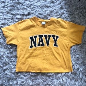Cropped Navy tee